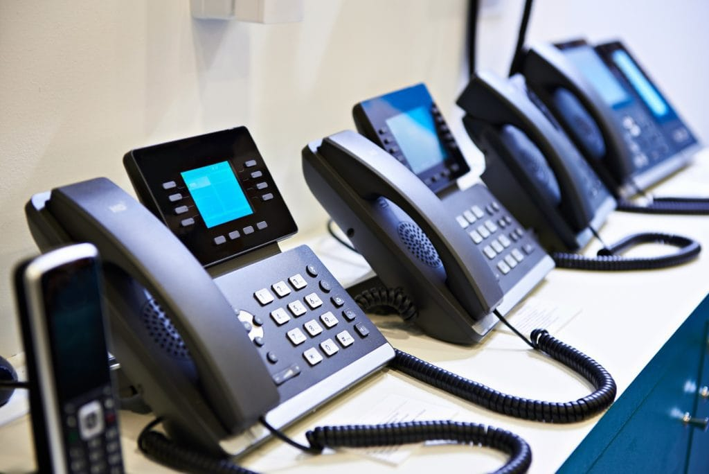 A series of VoIP phones